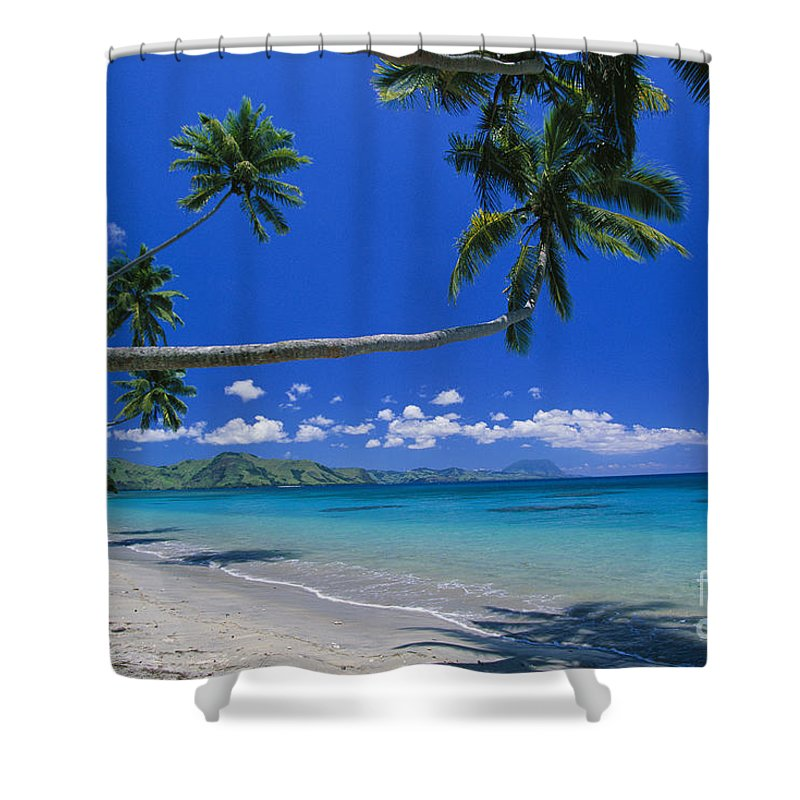 Afternoon Shower Curtain featuring the photograph Fiji, Kadavu Island by Ron Dahlquist - Printscapes