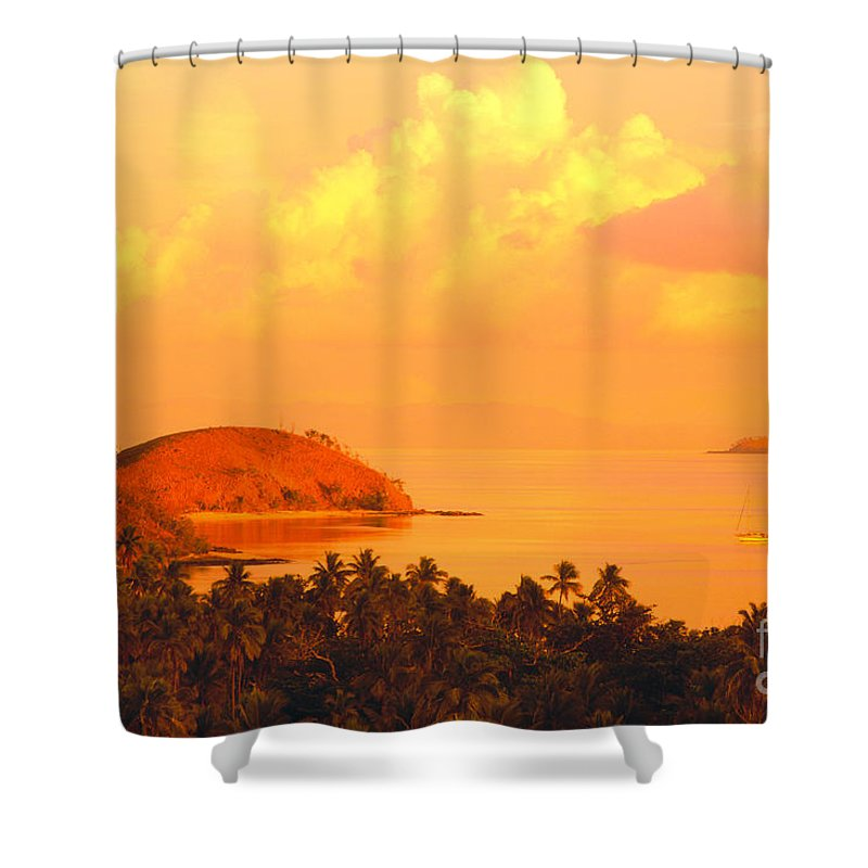 Amaze Shower Curtain featuring the photograph Fiji Mana Island by Dave Fleetham - Printscapes