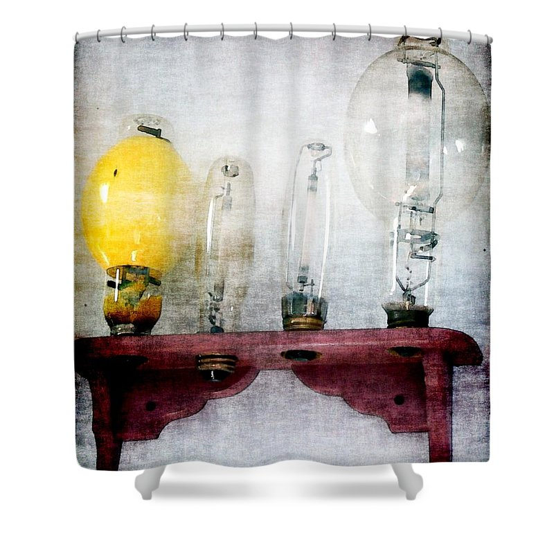 Antiques Shower Curtain featuring the painting 'filamentary My Dear Watson' by RC DeWinter
