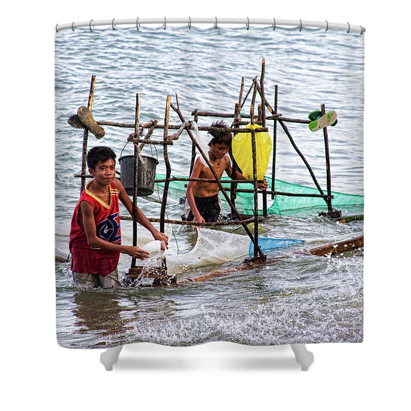 Philippines Shower Curtain featuring the photograph Filipino Fishing by James BO Insogna