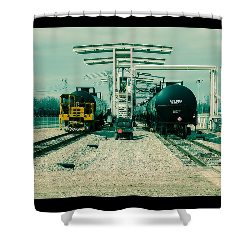 Cinema Shower Curtain featuring the photograph Fill-er Up by Robert Michaud