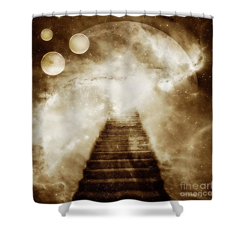 Fantasy Shower Curtain featuring the photograph Final Destination by Jacky Gerritsen