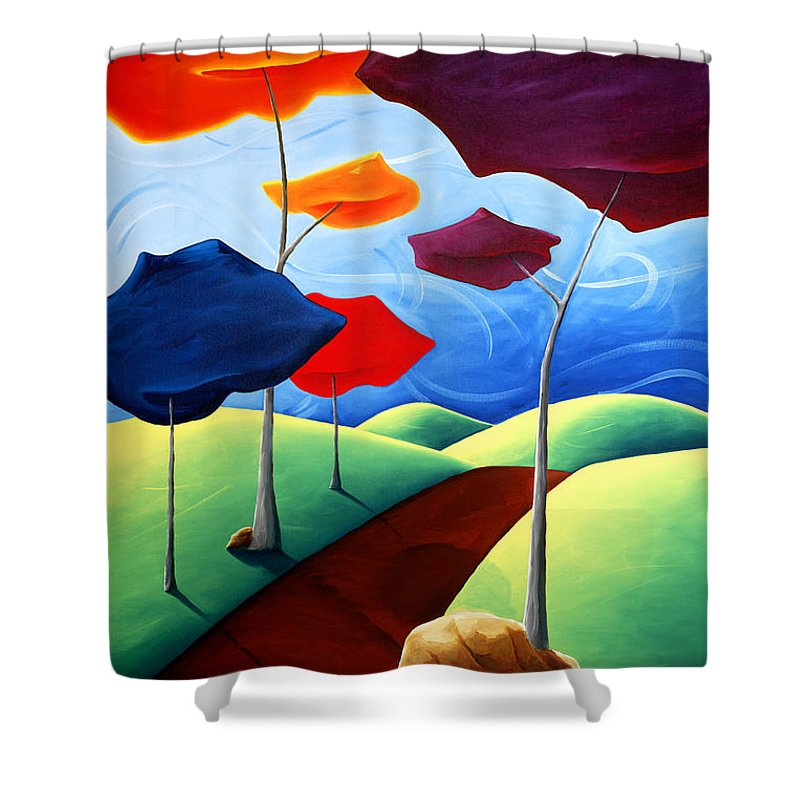 Landscape Shower Curtain featuring the painting Finding Your Way by Richard Hoedl