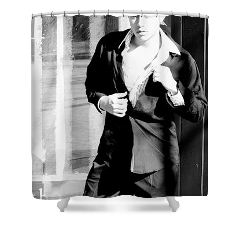 America Shower Curtain featuring the photograph Fine American Model by Angus Hooper Iii