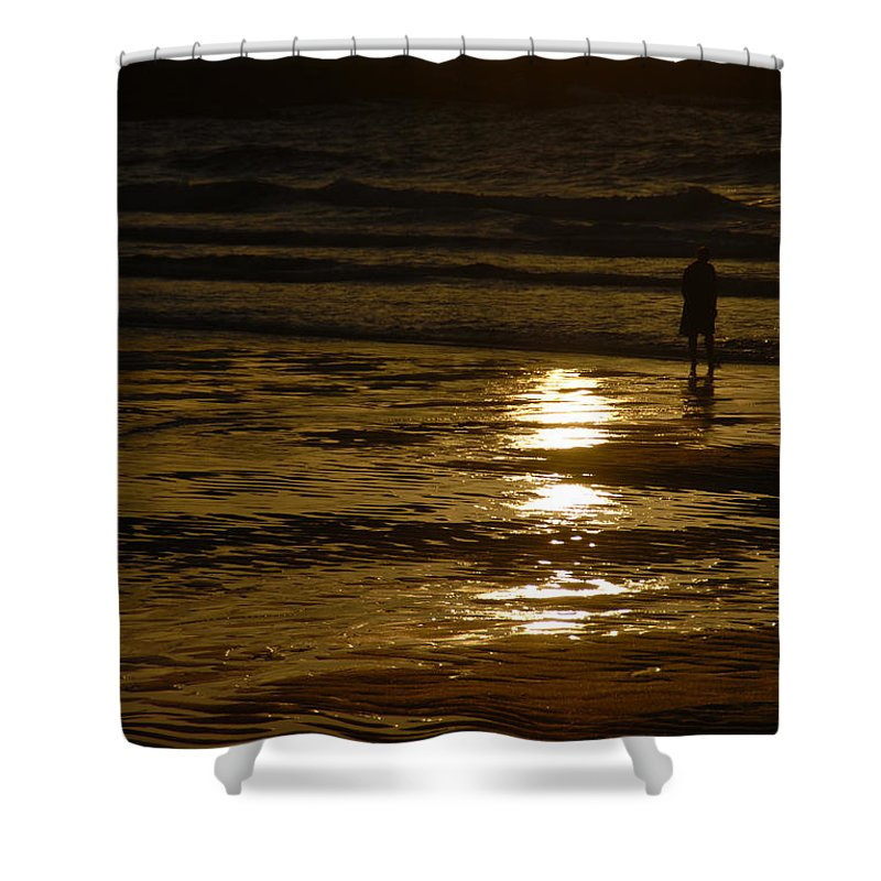 Fine Art Shower Curtain featuring the photograph Fine Art- Waves by Jenny Potter