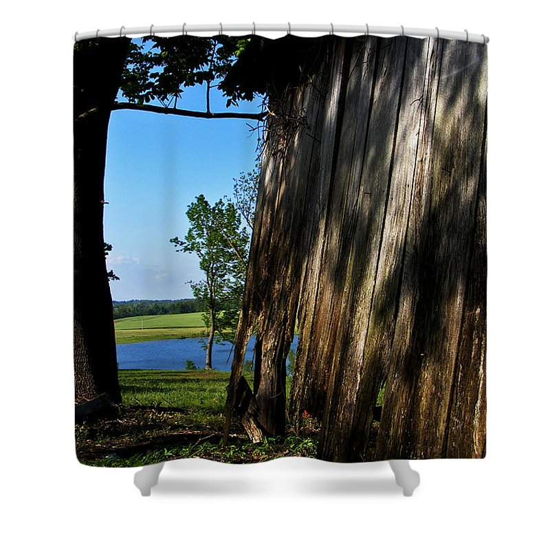 Landscape Shower Curtain featuring the photograph Fine Woodwork by Rachel Christine Nowicki