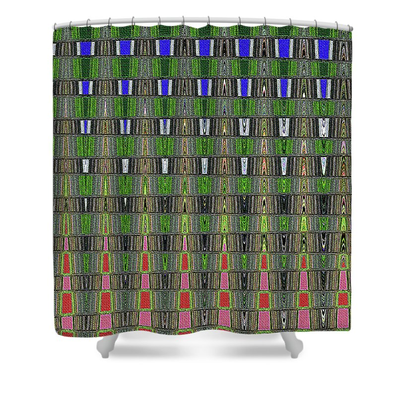 Fir Tree Forest Abstract #7215wt Shower Curtain featuring the photograph Fir Tree Forest Abstract #7215wt by Tom Janca