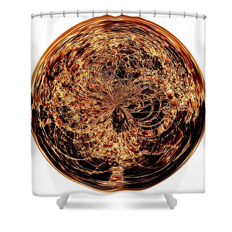 Black Shower Curtain featuring the digital art Fire Ball by Charleen Treasures