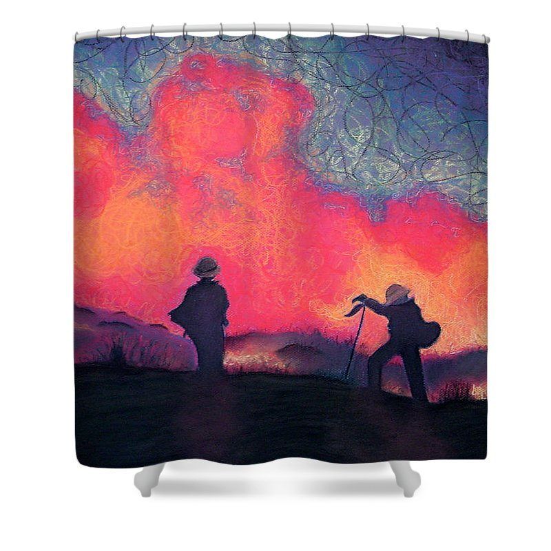 Fire Crews Shower Curtain featuring the drawing Fire Crew by Joshua Morton