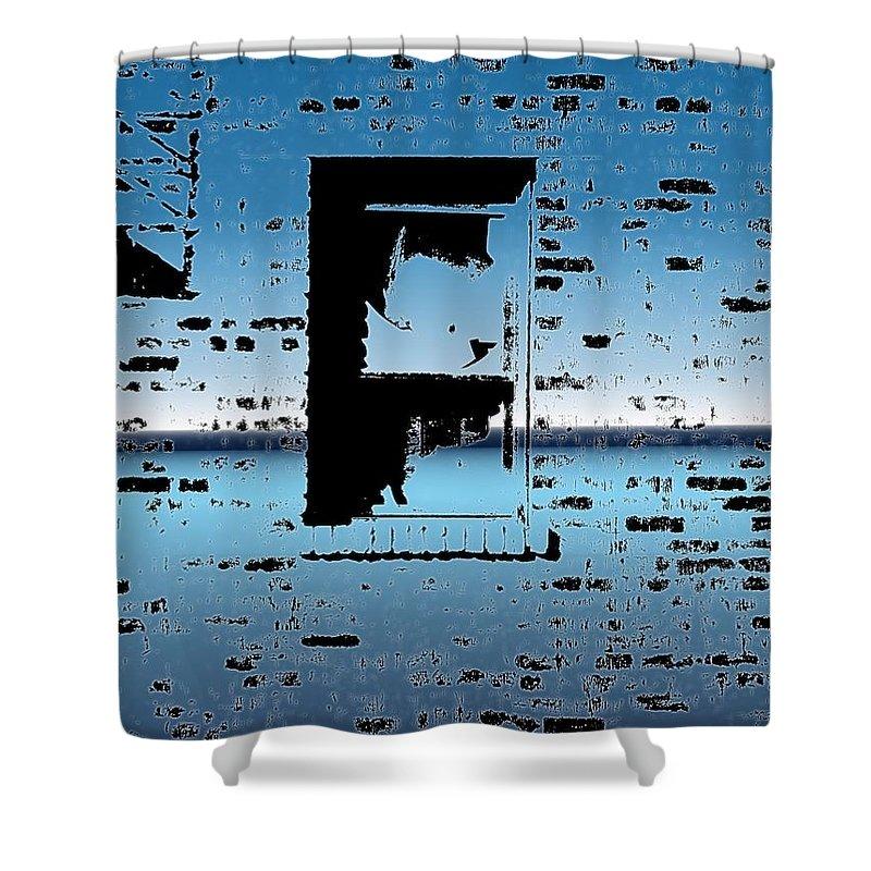 Window Shower Curtain featuring the digital art Fire Escape Window by Tim Allen