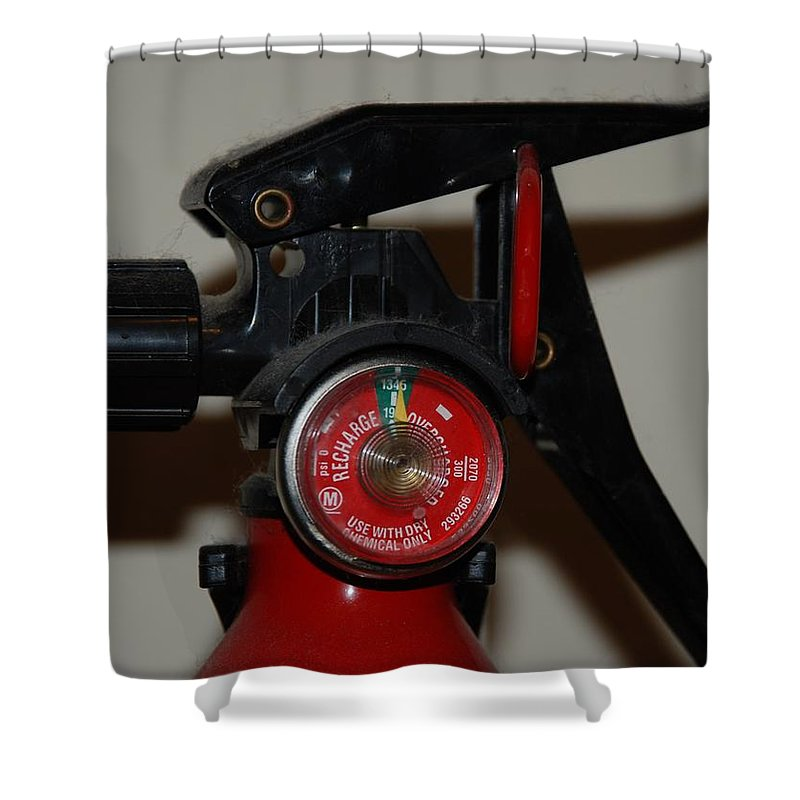 Fire Extinguisher Shower Curtain featuring the photograph Fire Extinguisher by Rob Hans