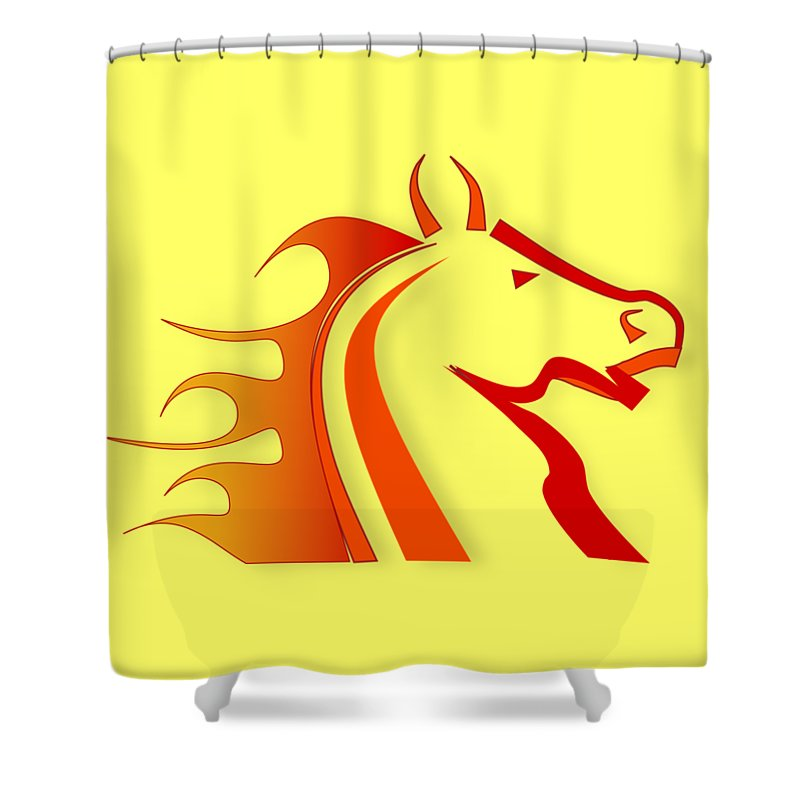 Horse Digital Art Shower Curtains
