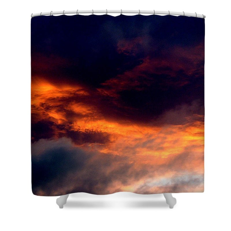 Fire Shower Curtain featuring the photograph Fire In The Sky by Barbara Griffin