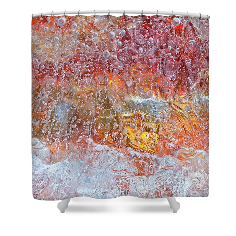 Abstract Shower Curtain featuring the photograph Fire Inside by Shannon Workman