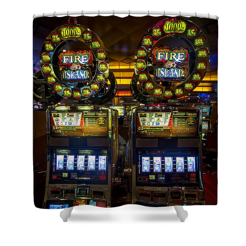 casino shower curtain