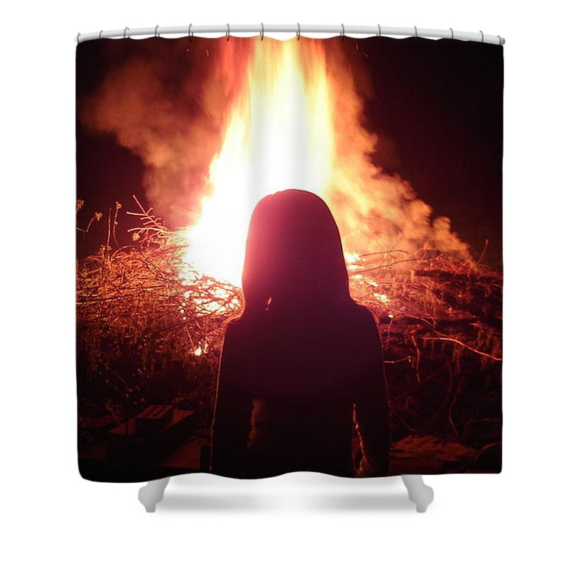 Fire Shower Curtain featuring the photograph Fire Starter by Brittany Horton