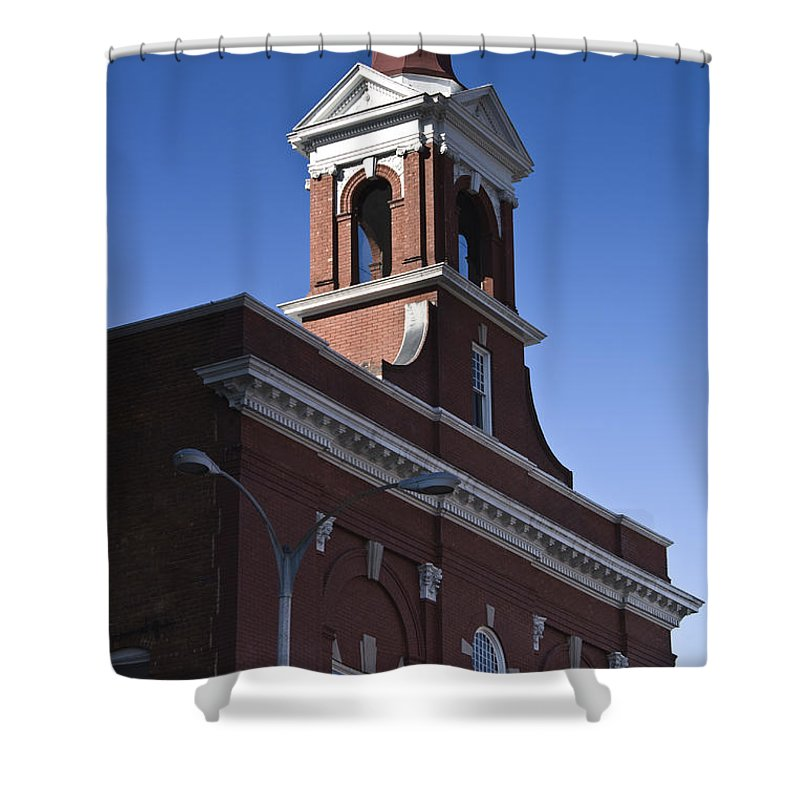 Roanoke Shower Curtain featuring the photograph Fire Station No 1 Roanoke Virginia by Teresa Mucha
