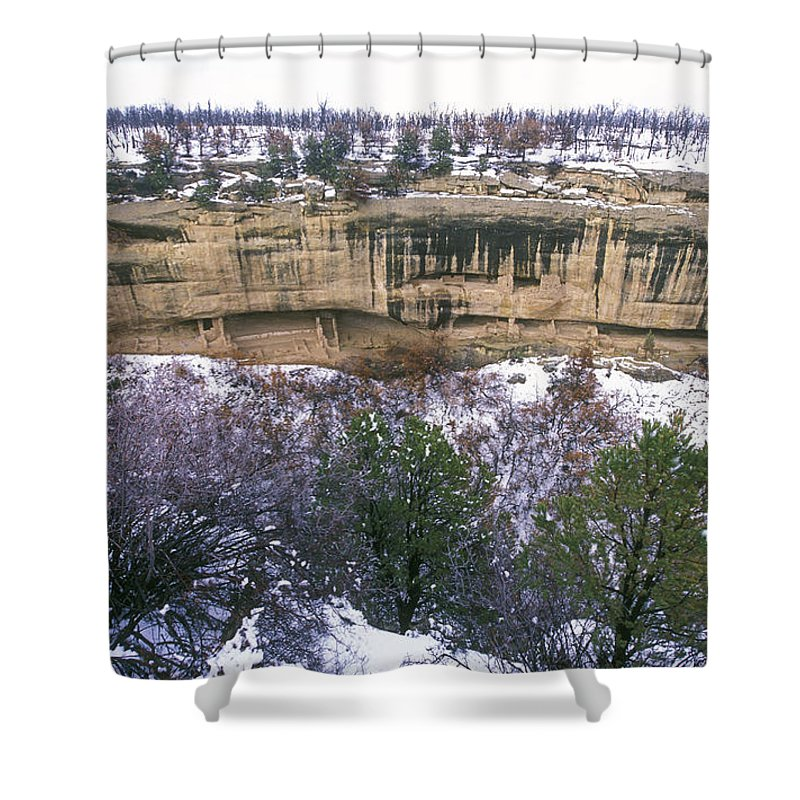 Mesa Verde National Park Shower Curtain featuring the photograph Fire Temple And New Fire House Ruins by Rich Reid