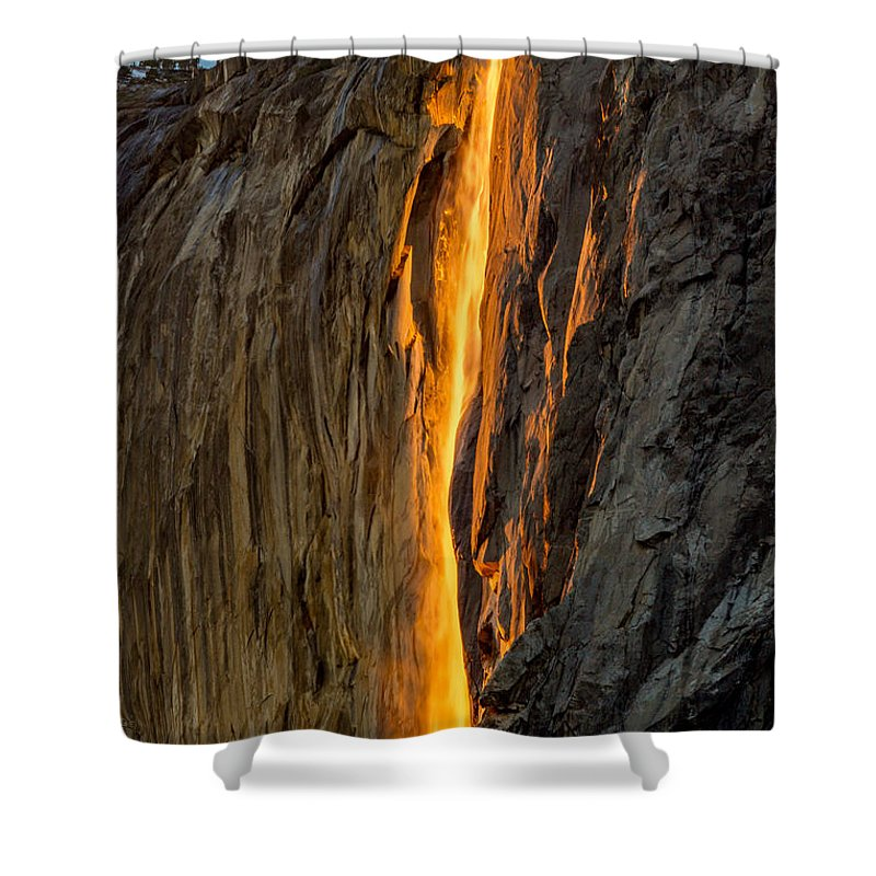 Firefall Shower Curtain featuring the photograph Firefall by Bill Gallagher