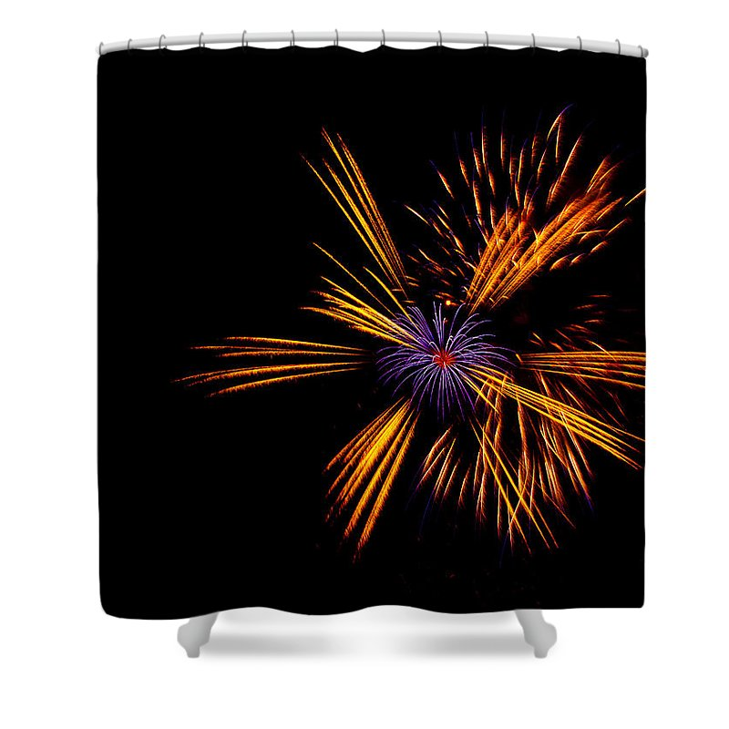 Firework Shower Curtain featuring the photograph Firework Fun by Dawn OConnor