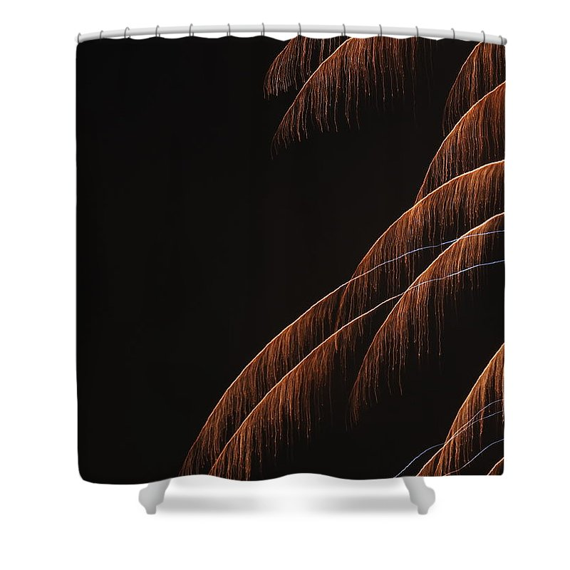 Fireworks Shower Curtain featuring the photograph Fireworks A Different Perspective 6 by Kenneth Summers