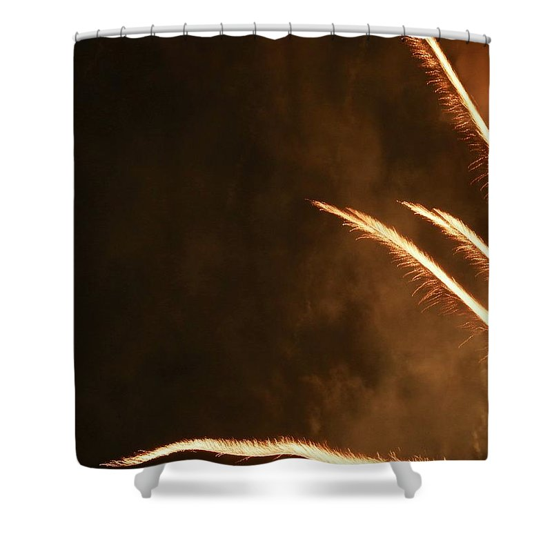 Fireworks Shower Curtain featuring the photograph Fireworks As Art Two by Kenneth Summers