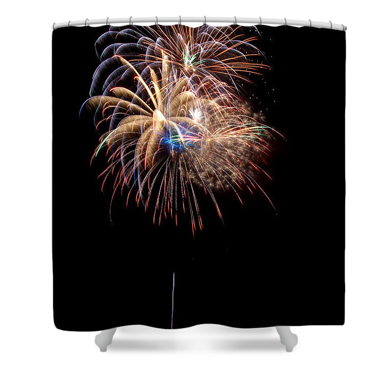 Fireworks Shower Curtain featuring the photograph Fireworks IIi by Christopher Holmes
