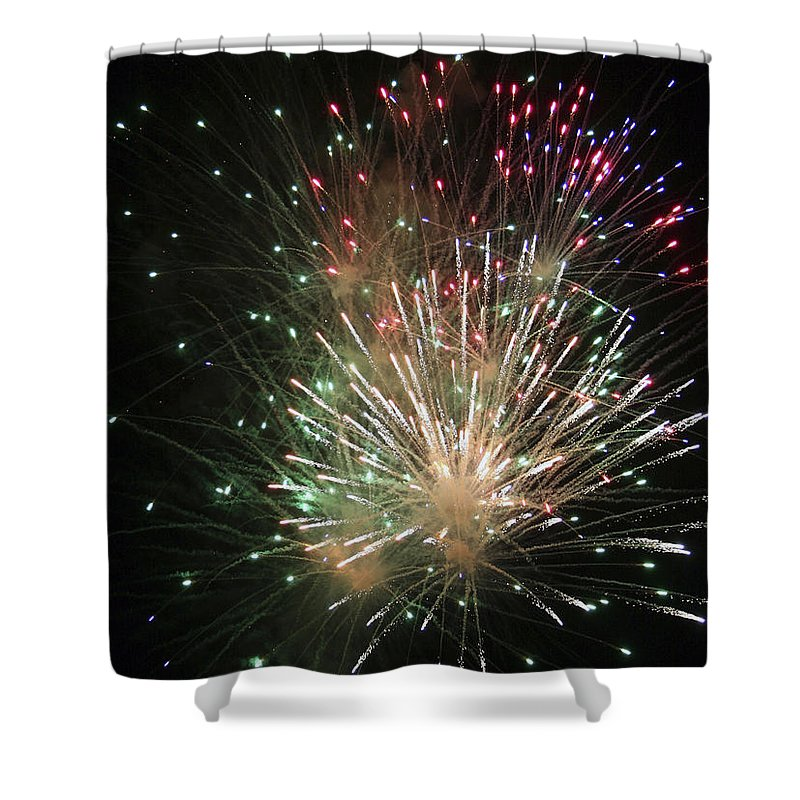 Fireworks Shower Curtain featuring the photograph Fireworks by Margie Wildblood