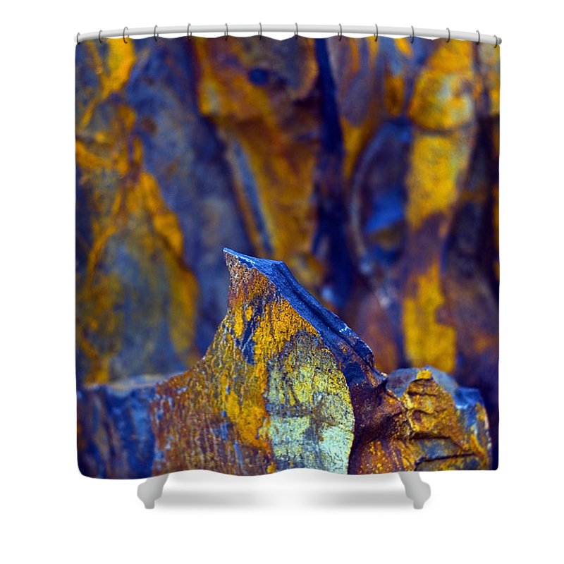 Texture Shower Curtain featuring the photograph First Cut is the Deepest by Skip Hunt