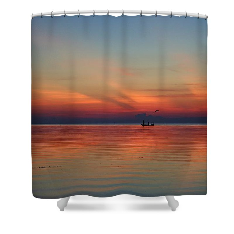 Nature Shower Curtain featuring the photograph First Light by Christi Willard