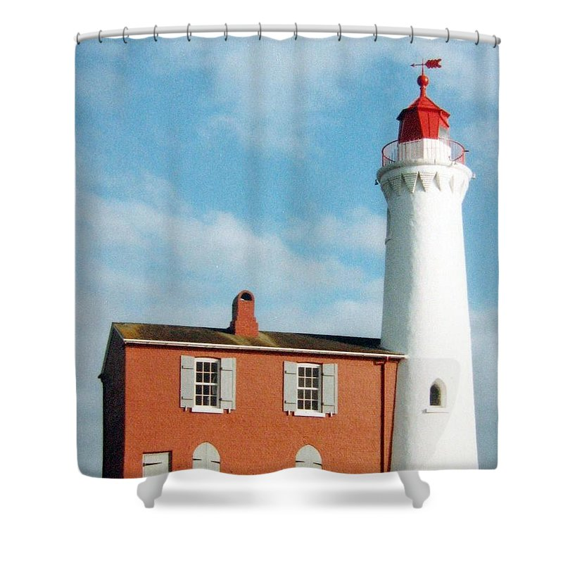 Fisgard Lighthouse Shower Curtain featuring the photograph Fisgard Lighthouse by Will Borden