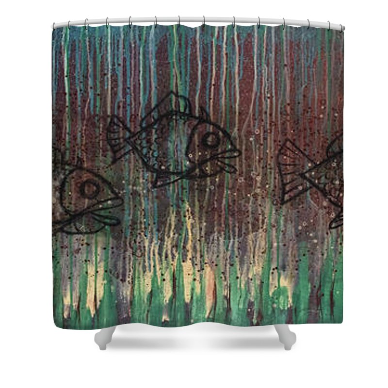 Fish Shower Curtain featuring the painting Fish by Kelly Jade King