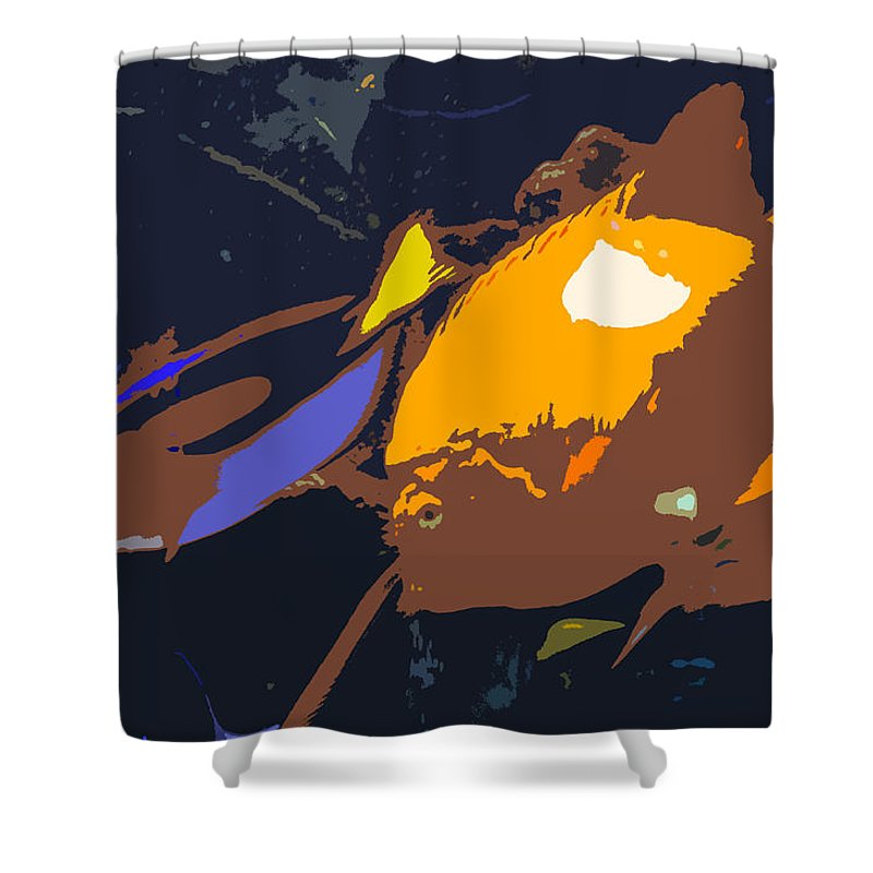 Tropical Shower Curtain featuring the painting Fish Of The Tropics by David Lee Thompson