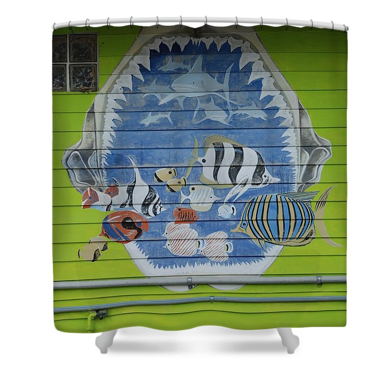 Teeth Shower Curtain featuring the photograph Fish by Rob Hans