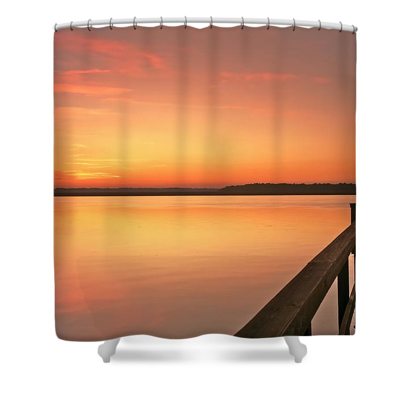 Sunset Shower Curtain featuring the photograph Fisherman by Phill Doherty