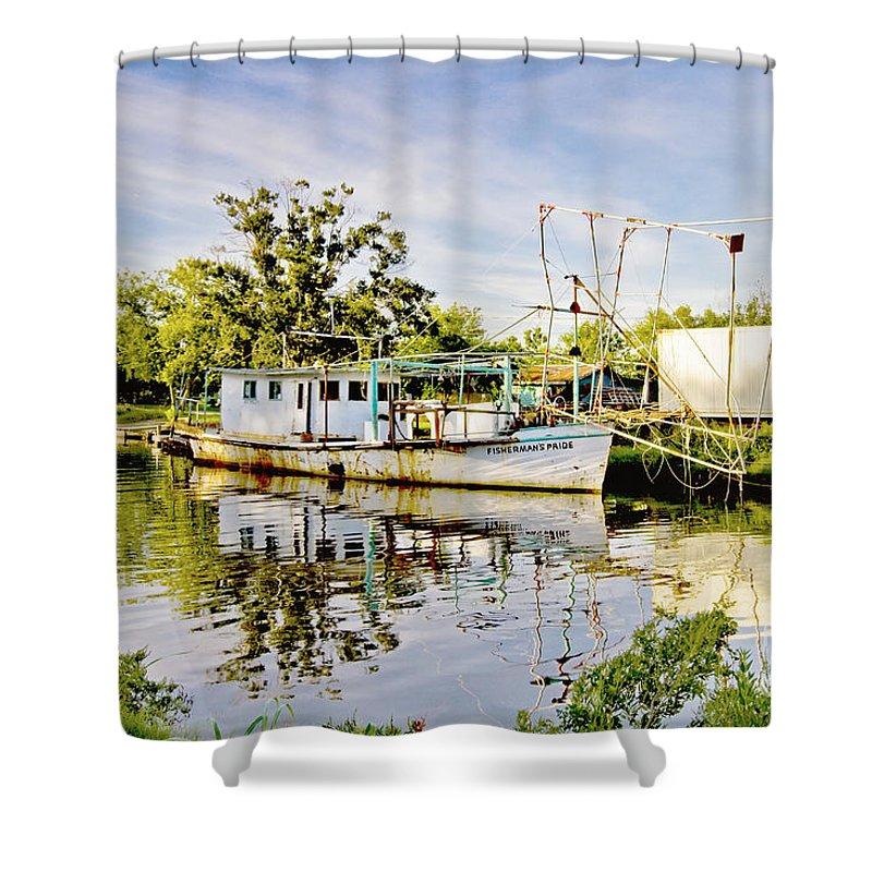 Fishing Shower Curtain featuring the photograph Fisherman's Pride by Scott Pellegrin