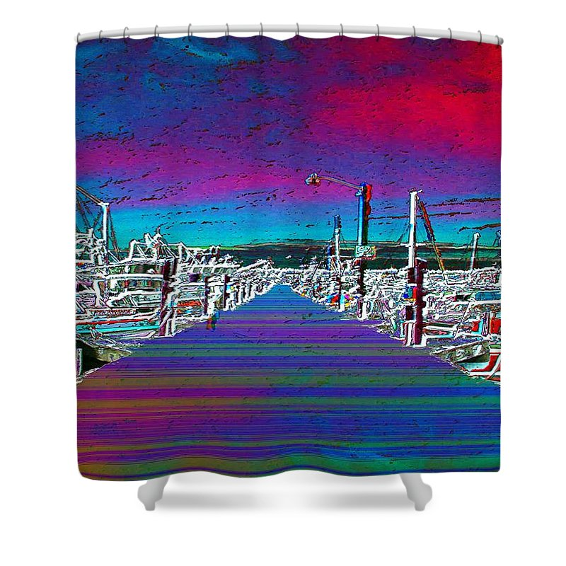 Seattle Shower Curtain featuring the photograph Fishermans Terminal Pier by Tim Allen