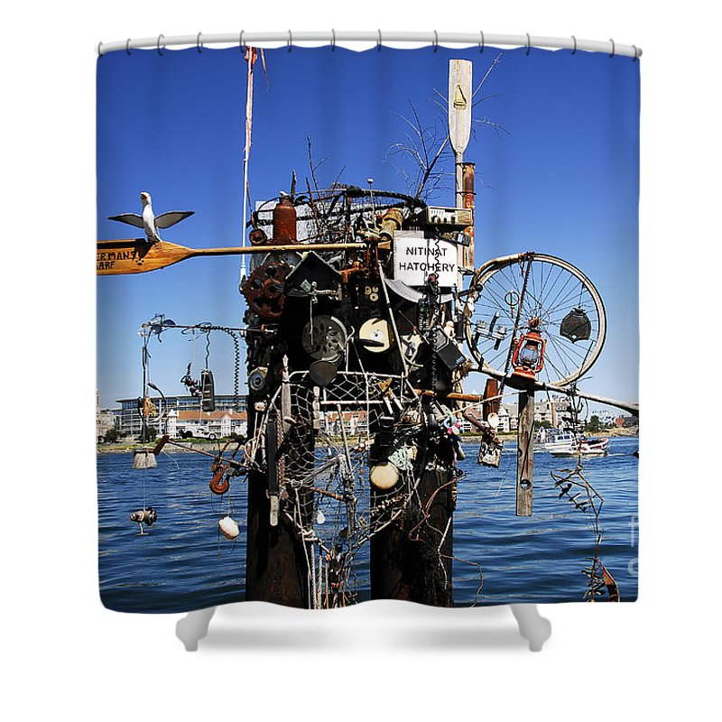 Fisherman Shower Curtain featuring the photograph Fisherman's Wharf by David Lee Thompson