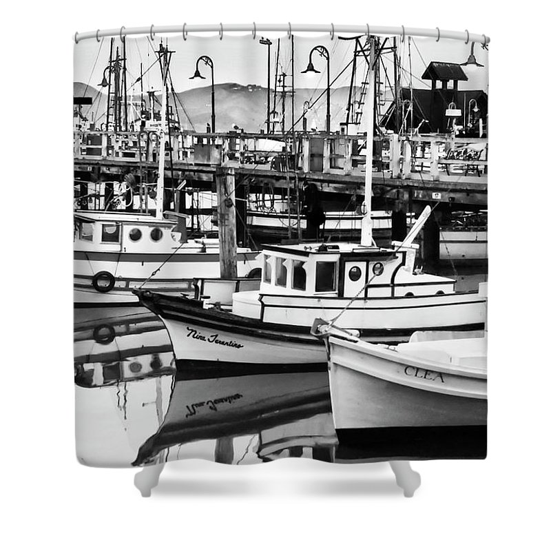 Fishermans Wharf Shower Curtain featuring the photograph Fishermans Wharf by Mick Burkey