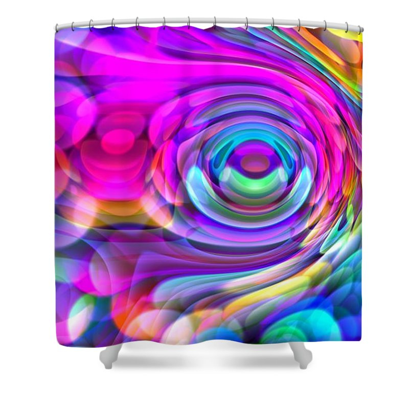 Art Digital Art Shower Curtain featuring the digital art Fisheye3mlv by Alex Porter