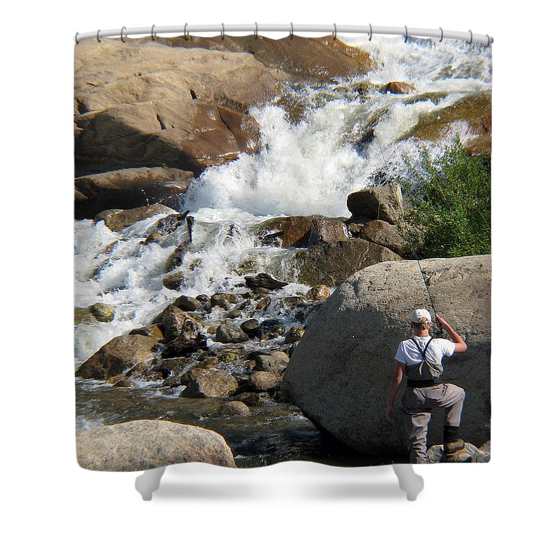 Fishing Shower Curtain featuring the photograph Fishing Anyone by Amanda Barcon