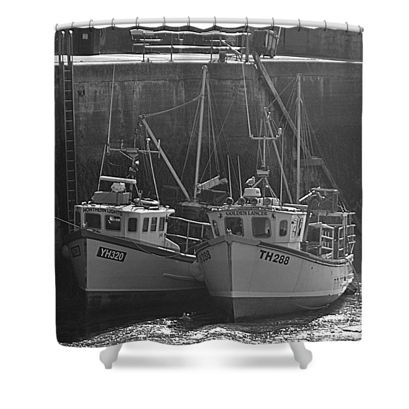 Fishing Boats Shower Curtain featuring the photograph Fishing Boats by Andy Thompson