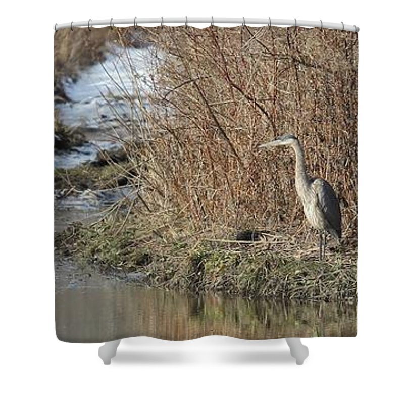 Ny Shower Curtain featuring the photograph Fishing by Charles Van Wagenen Jr