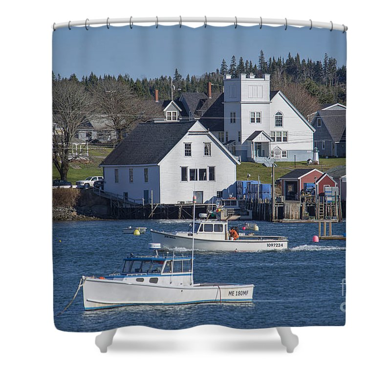 Cutler Shower Curtain featuring the photograph Fishing Harbor by Alana Ranney