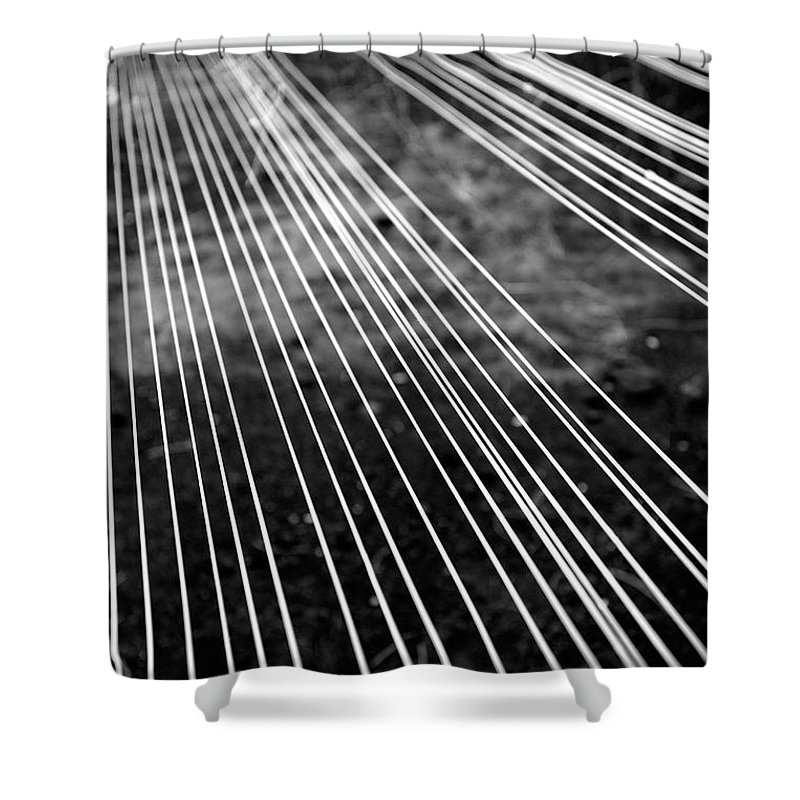 Abstract Shower Curtain featuring the photograph Fishing Lines by Gaspar Avila