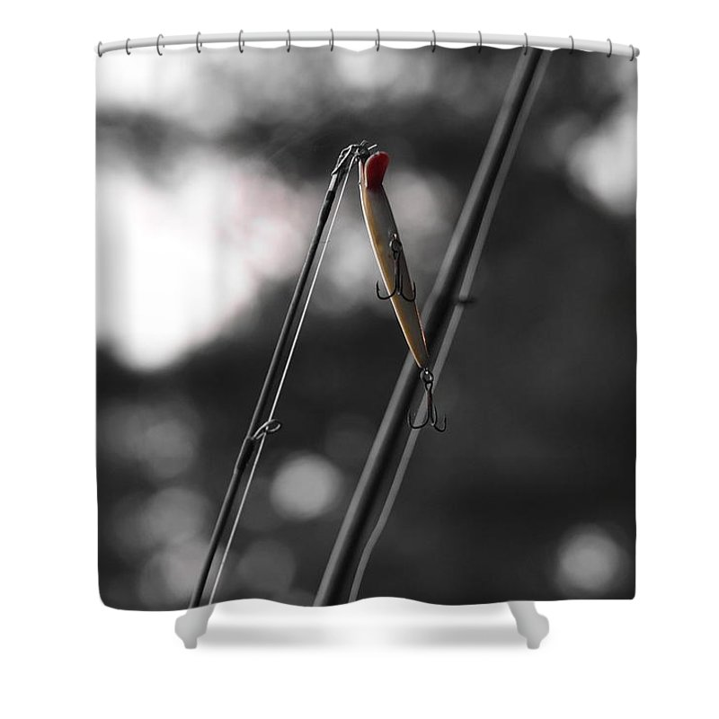 Fishing Lure Shower Curtain featuring the photograph Fishing Lure by Southernsweety
