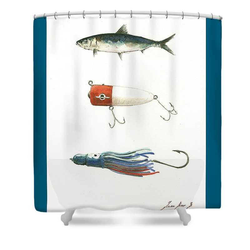 Tuna Fishing Shower Curtains