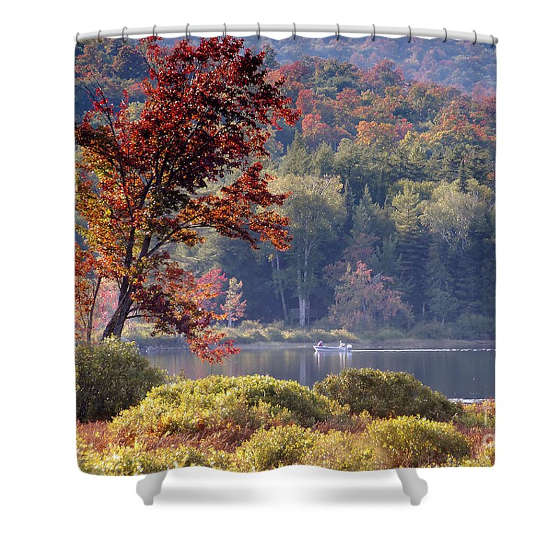Adirondack Mountains Shower Curtain featuring the photograph Fishing The Adirondacks by David Lee Thompson