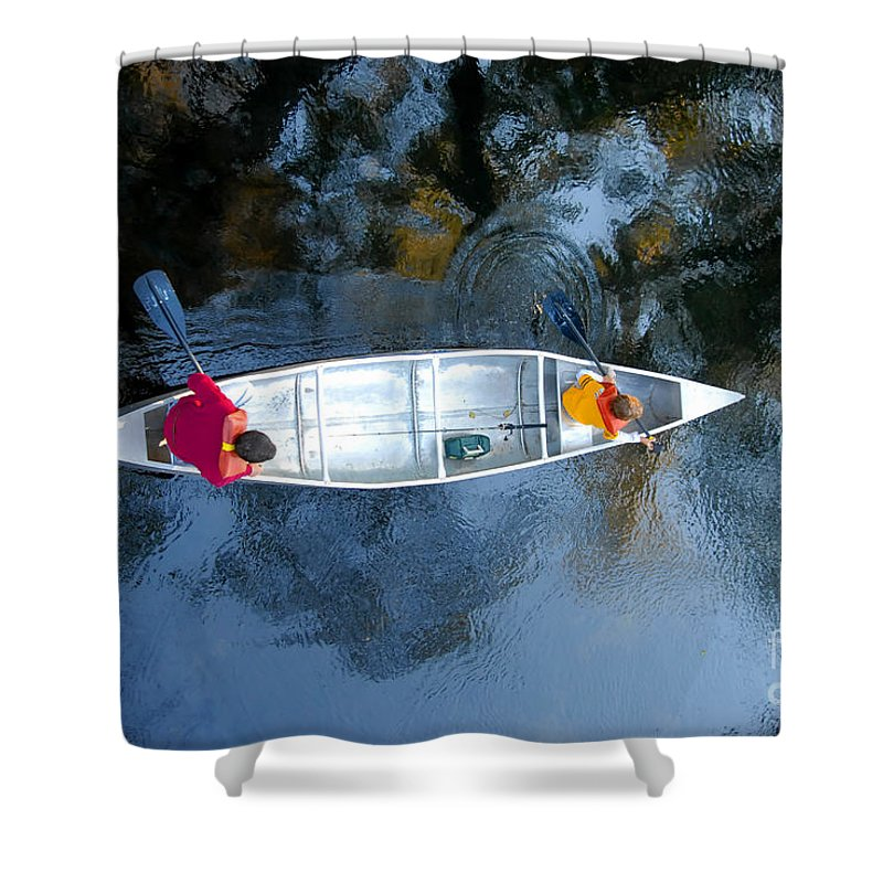 Father Shower Curtain featuring the photograph Fishing Trip by David Lee Thompson