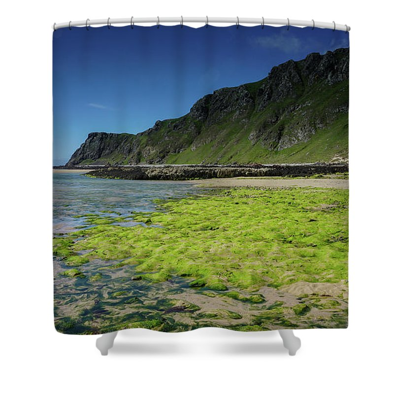 Five Finger Strand Shower Curtain featuring the photograph Five Finger Strand by Roland Hall